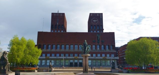Oslo Opera and Akershus fortress