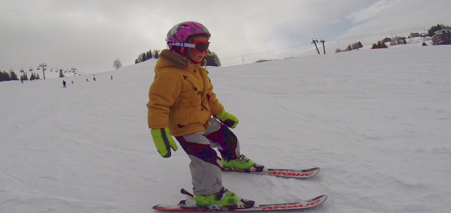 Skiing with kids in Donovaly, Slovakia