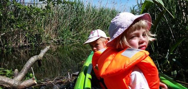 Kayaks with children – Paklica